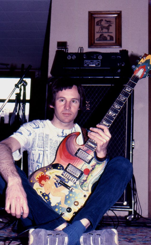 Dave Gregory during the recording of Skylarking